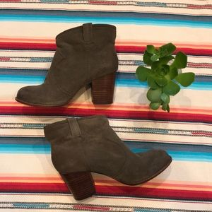 Splendid Suede/Canvas Booties